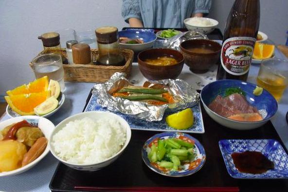 小笠原ウエストの夕食
