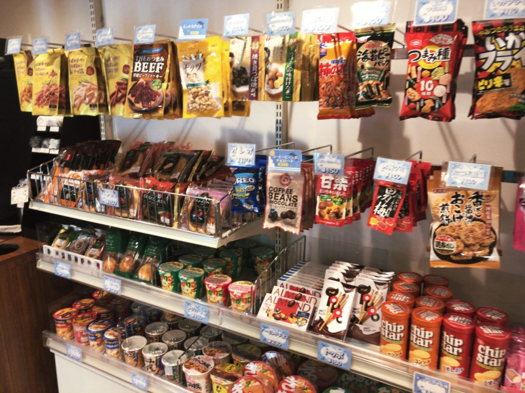 おがさわら丸の売店(ショップドルフィン)で売っているお菓子