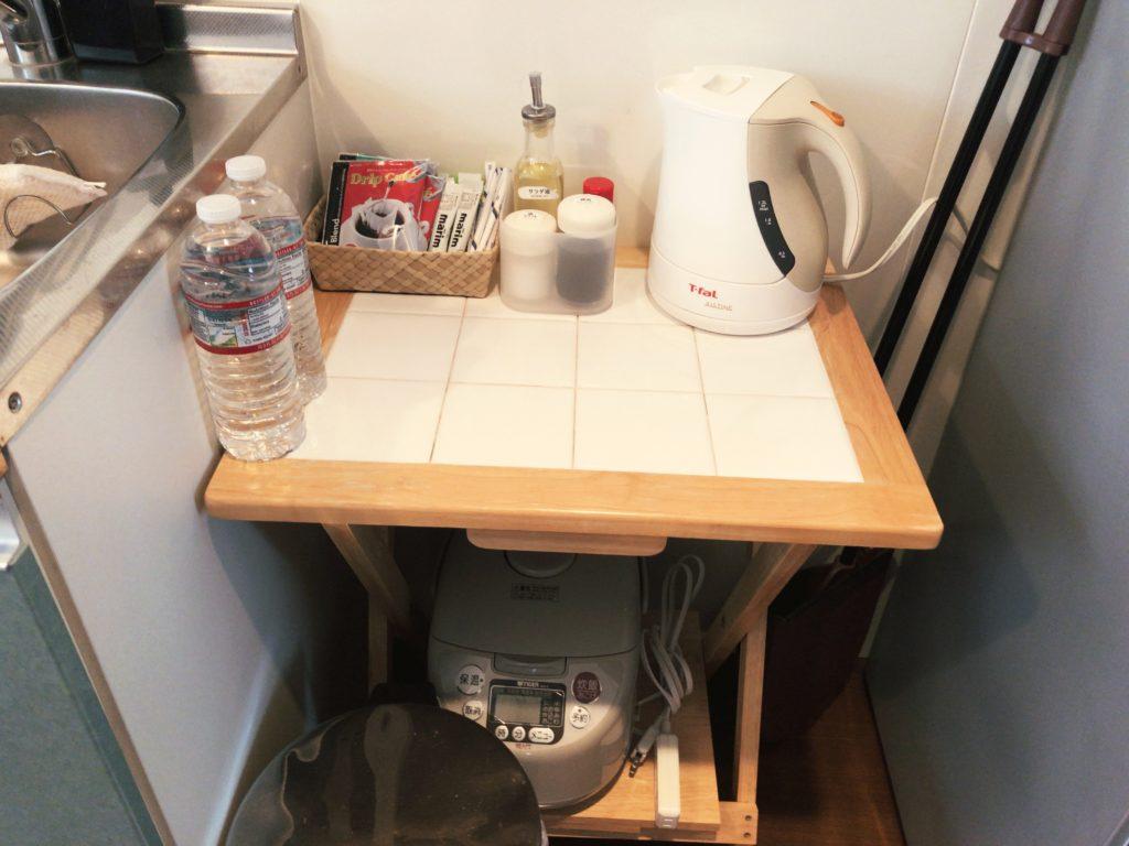 ポートロイド父島の電子ケトル・炊飯器