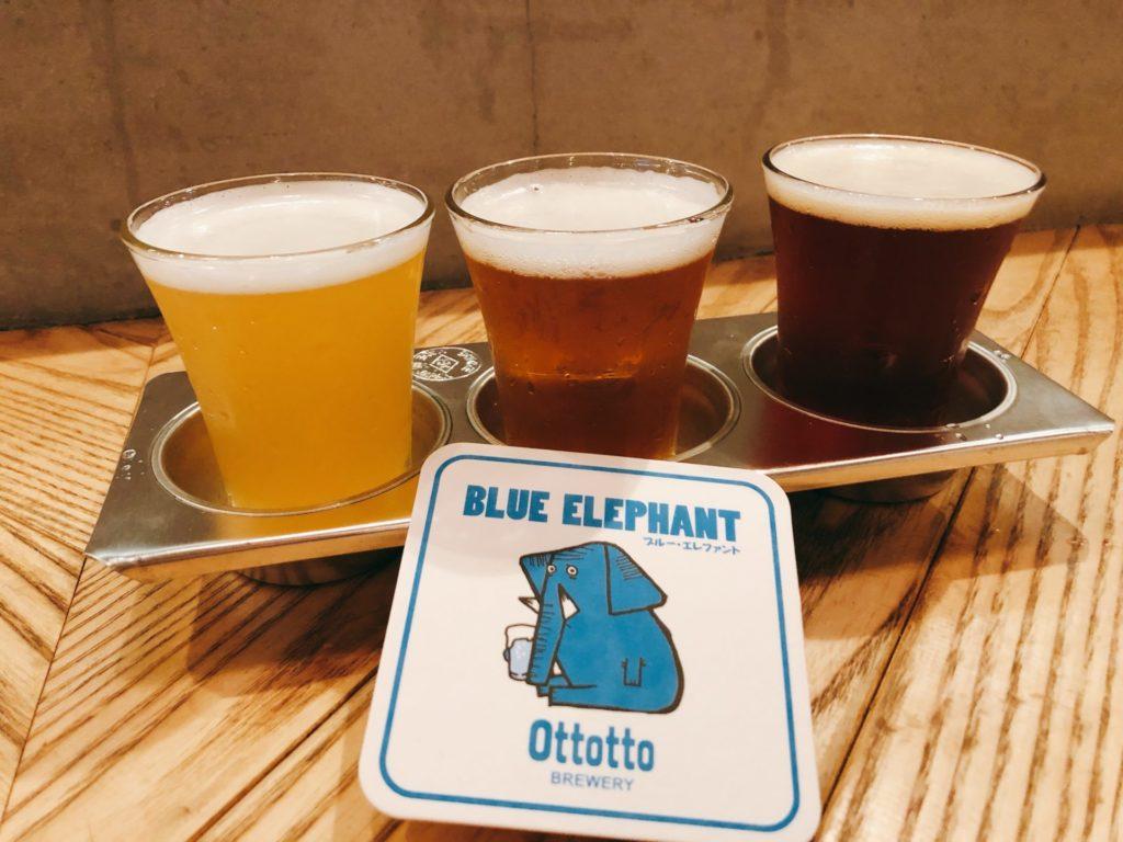 オットットブルワリー 浜松町のクラフトビール飲み比べセット